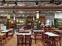 פרקט עץ במסעדת גומבה
